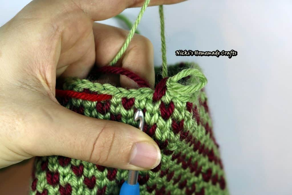 Waistcoat Stitch in the rounds