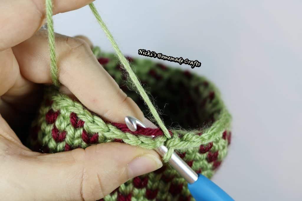 finished crochet waistcoat stitch