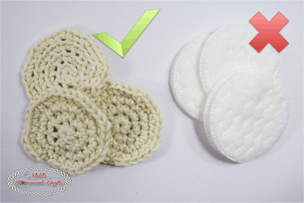 Facial Scrub and Cotton pads